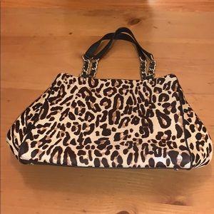 Kate Spade calf hair leopard shoulder bag